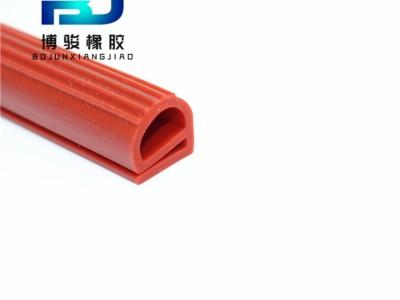 e字高弹性硅胶条 温室门冷库门工业门挡风硅胶E型密封条
