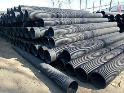 长期生产HDPE材质排水管 排污管 双壁波纹管